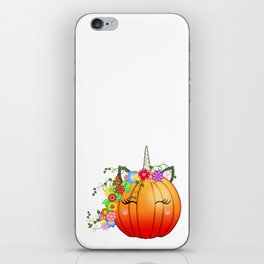 Unicorn Pumpkin iPhone Skin