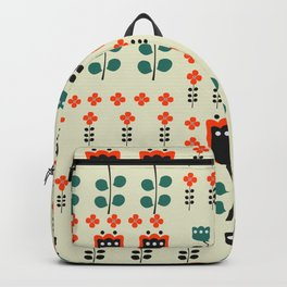 Cats napping between flowers Backpack