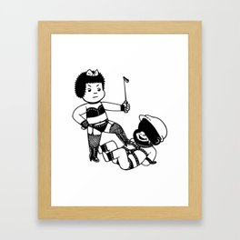 Slug 'Em Framed Art Print