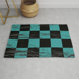 Retro Plaid Pattern Rug