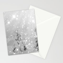 Silent Night - B & W Stationery Cards