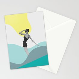 Swimmer Collage Stationery Cards