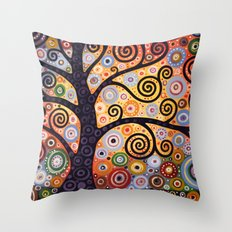 Abstract Landscape Original Painting...WESTERN SUN, by Amy Giacomelli Throw Pillow