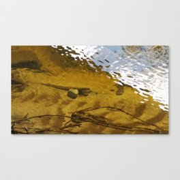 River Bed   Water Ripples Canvas Print