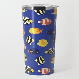 Exotic School Of Reef Fish Travel Mug