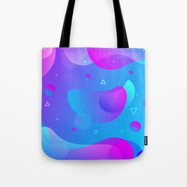 80s 90s Memphis Retro Pattern #5 Tote Bag