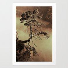 Mystic lonely tree Art Print