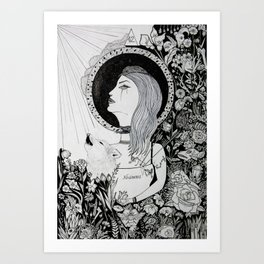 For Who Shall Be Saved - Inked Art Art Print