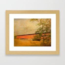 Langley Covered Bridge Framed Art Print