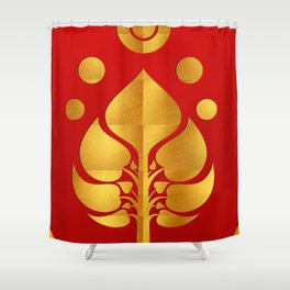 Bodhi Tree0301_GoldenDAY Shower Curtain