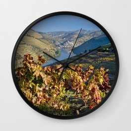 Autumn in the Douro Valley, Portugal Wall Clock