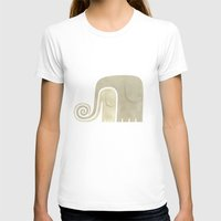 elephants T-shirts featuring elephants by Martín León Barreto