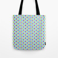 monsters inc Tote Bags featuring Monsters, Inc. Polka Dots by Jennifer Agu