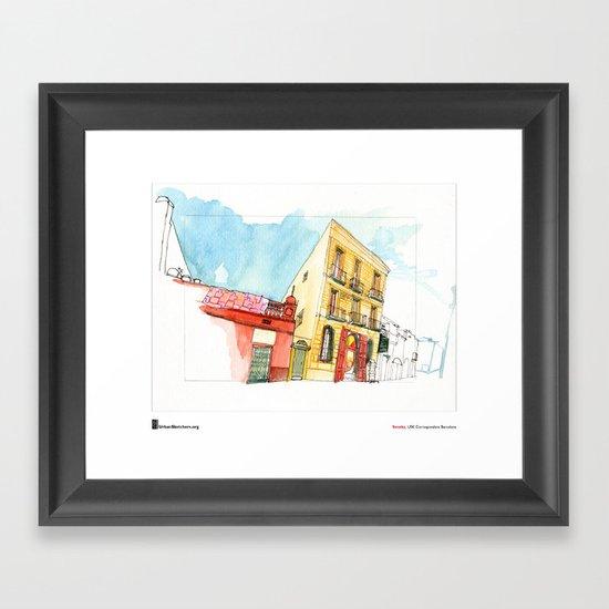 """Swasky, """"Sant Boi"""" Framed Art Print"""