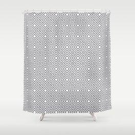 Beautiful Pattern #27 Silver Geometry Pattern Shower Curtain