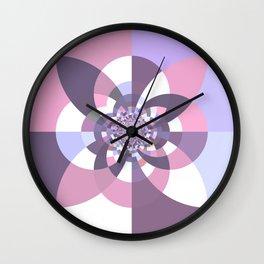 Mauve Lavender Puce Kaleidoscope Wall Clock