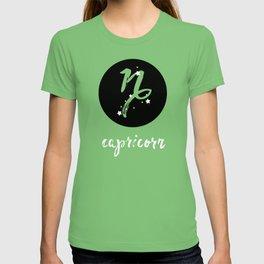 Capricorn Zodiac Watercolor T-shirt