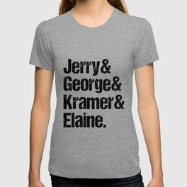 Jerry Elaine George Kramer Seinfeld Cast T-shirt