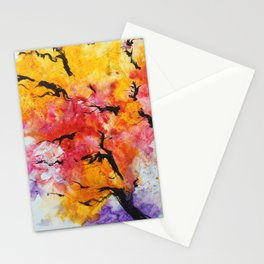 Abstraction on a tree Stationery Cards