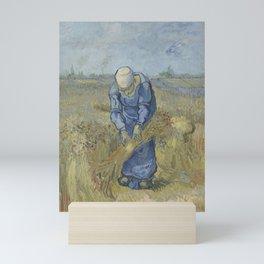 Peasant Woman Binding Sheaves (after Millet) Mini Art Print