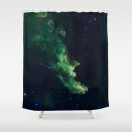 Witch Head Nebula Shower Curtain