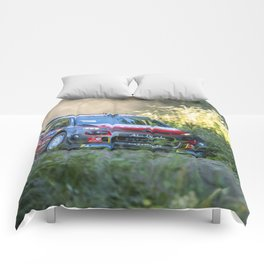 Rally car - Speed in nature Comforters