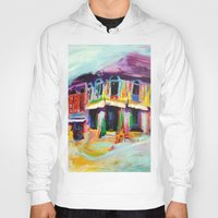 singapore Hoodies featuring Club Street, Singapore by Kasia Pawlak