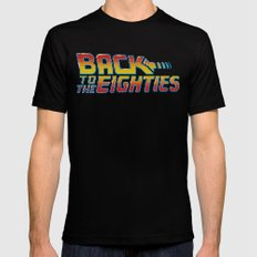 Back To The Eighties Mens Fitted Tee Black LARGE