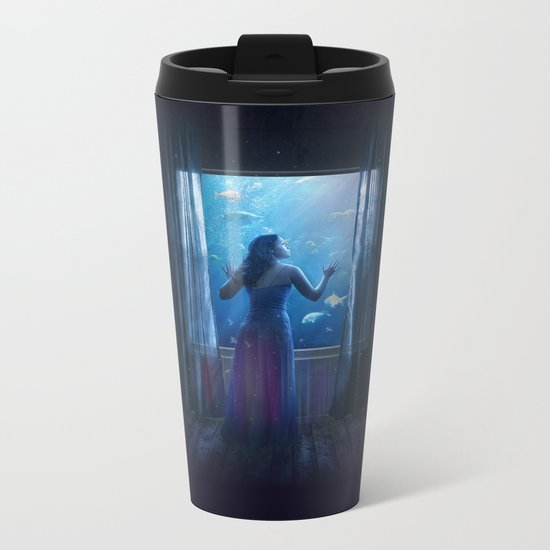 Confused Metal Travel Mug