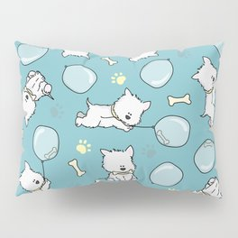 Hungry Westie Puppy Pillow Sham