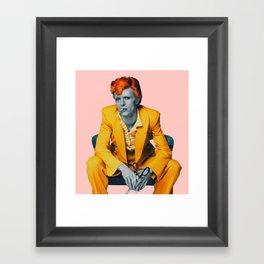 pinky bowie 2 Framed Art Print