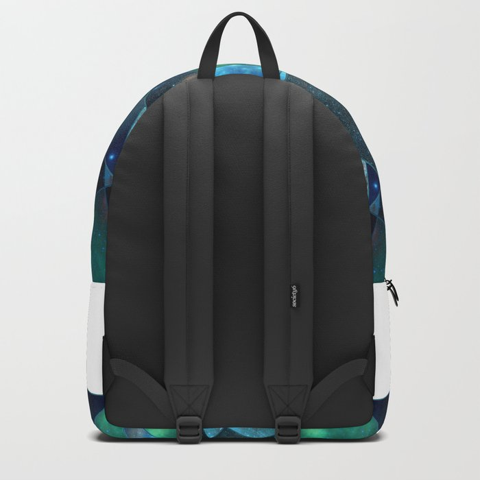 Abstract Galaxy Flower Backpack