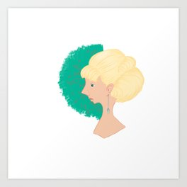 A great lady Art Print