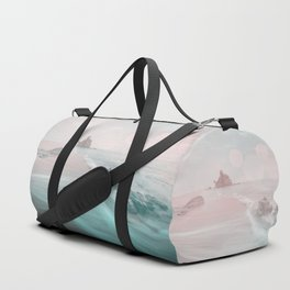 Dreamy Beach In Pink And Turquoise Duffle Bag