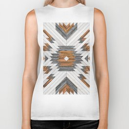 Urban Tribal Pattern No.8 - Aztec - Wood Biker Tank