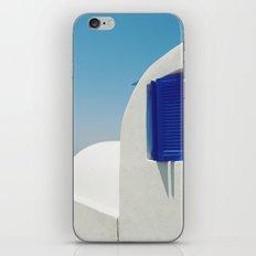 Santorini Blue & White Window iPhone & iPod Skin