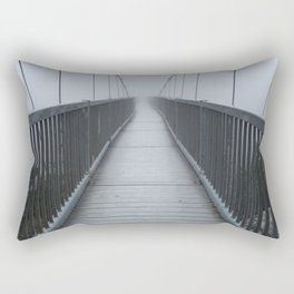 The Swinging Bridge in Fog on a Mountain Rectangular Pillow