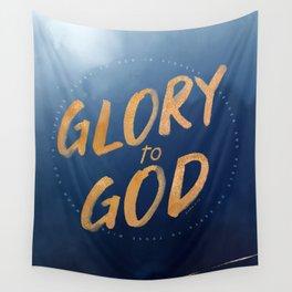 Glory to God - Luke 2:14 Wall Tapestry