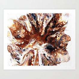 Deconstructed Caramel Sundae Art Print