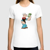 popeye T-shirts featuring Popeye the Sailor Man by CromMorc