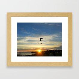 Sunset Paraglider Framed Art Print