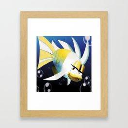 Loverin - Gaming Fish Lips Cute Cutie Game Art Illustration Japanese Framed Art Print