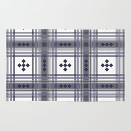 Preppy Plaid in Smokey Purple and Gray Rug