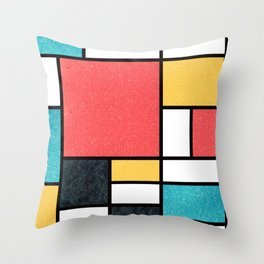 Clean Mondrian (Sponge) Throw Pillow