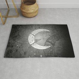 The moon, mandala design Rug
