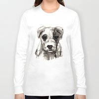 puppy Long Sleeve T-shirts featuring Puppy  by Cedric S Touati