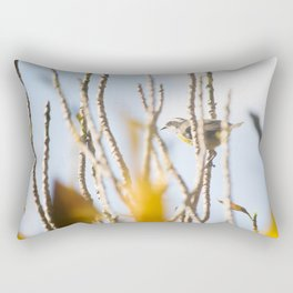 Bird - Black And White Rectangular Pillow