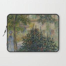 "Claude Monet ""Camille Monet in the Garden at Argenteuil"" Laptop Sleeve"