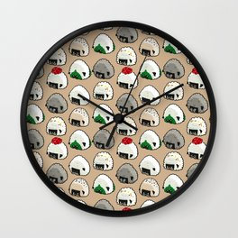Onigiri Rice Balls Pug Wall Clock