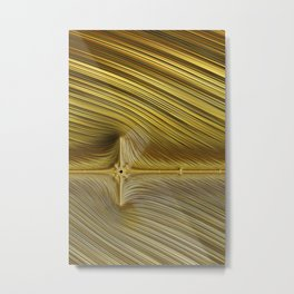 Flatline Metal Print